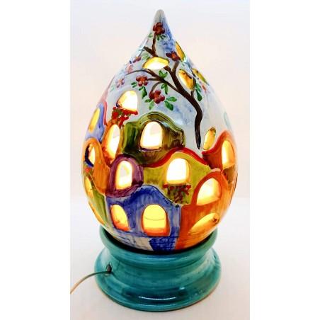 Lampada da Tavolo Traforo Paesaggio 30,5 x 14 cm